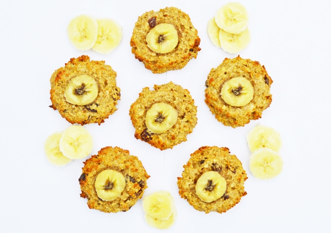 Banana and PB cookies