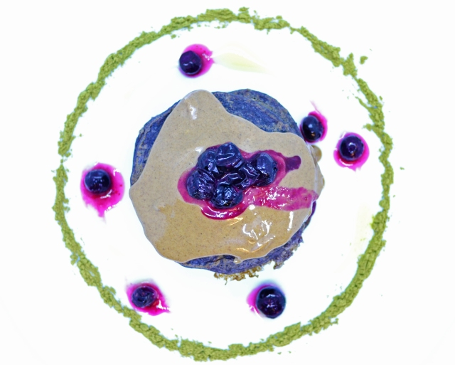 Blueberry protein pancakes 2