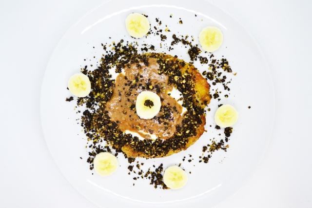 Protein brownie granola and banana