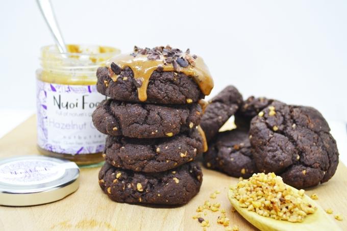 Hazelnut cocoa cookies