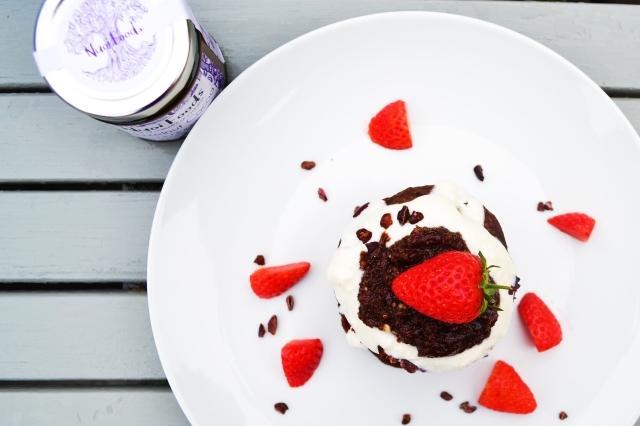 Hazelnut brownie protein pancakes 2
